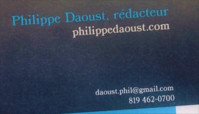carte d'affaires philippe daoust rédacteur